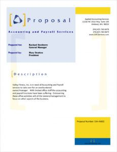 editable accounting and payroll services proposal  5 steps bookkeeping proposal template word