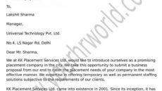 editable business tie up proposal letter format staffing agency proposal template doc