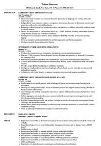 editable cyber security operations resume samples  velvet jobs cyber security proposal template