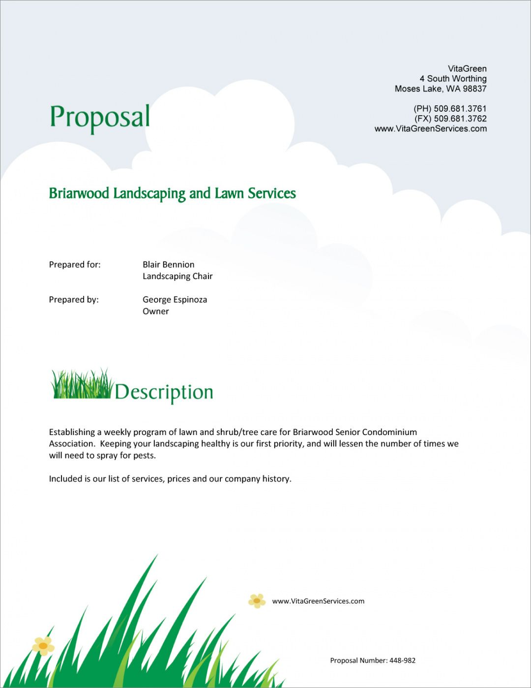editable lawn care and landscaping services proposal  5 steps grass cutting proposal template word