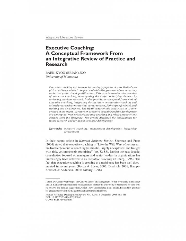 editable pdf executive coaching a conceptual framework from an executive coaching proposal template