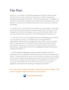 editable records management expanded file plan template  3 quick steps document management proposal template doc