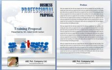 editable training proposal template  word excel formats business training proposal template doc