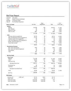 electrical & plumbing construction bid package  turbobid plumbing bid proposal template excel