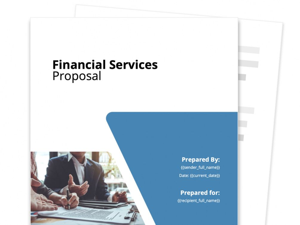 financial services proposal template  free and fillable angel investor proposal template example
