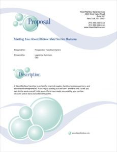 franchise selling sample proposal  5 steps selling business proposal template word