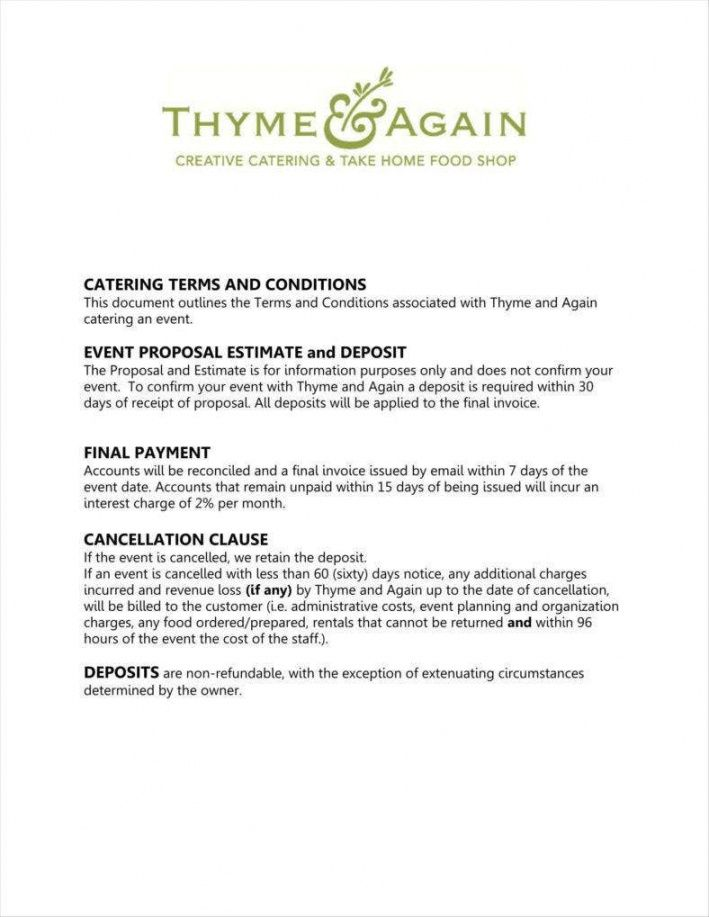 free 10 how to write a catering proposal  free word pdf format catering business proposal template excel