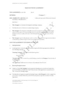 free 11 contract manufacturing agreement examples in pdf contract manufacturing proposal template doc