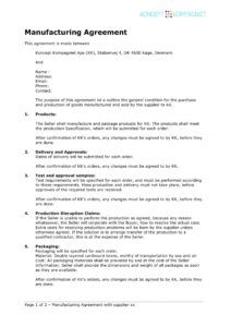 free 11 contract manufacturing agreement examples in pdf contract manufacturing proposal template pdf