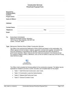 free 31 construction proposal template & construction bid forms construction work proposal template
