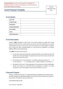 free 38 best event proposal templates & free examples  templatelab event management proposal template word