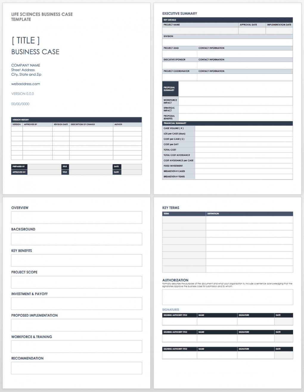 free business case templates  smartsheet business case proposal template excel