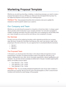 free business template directory  hubspot freelance marketing proposal template example