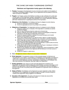 free car wash contract agreement sample  fill online printable car wash proposal template pdf