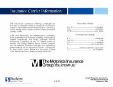 free commercial insurance proposal sample version by scott commercial insurance proposal template example