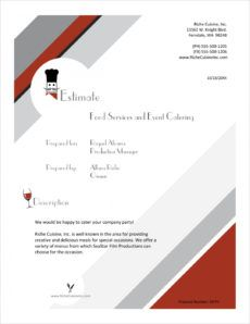 free food services catering sample proposal  5 steps catering business proposal template example