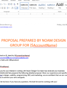 free generate customized proposals from salesforce  formstack salesforce proposal template word