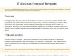 free how to write a business proposal in 2020 6 steps  15 free managed it services proposal template