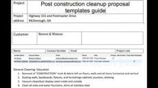 free post construction cleanup proposal templates post construction cleaning proposal template excel