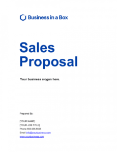 free sales proposal template  by businessinabox™ professional sales proposal template word