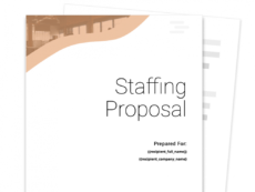 free staffing agency proposal template  free sample  proposable recruiting proposal template word