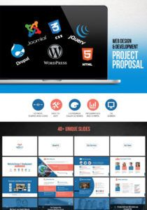 free web design & development  project proposal powerpoint template web development project proposal template