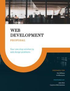 free web development project  proposal template  visme proposal template for web design project