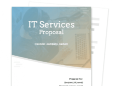it services proposal template  free sample  proposable it services proposal template