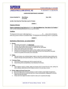 lawn service proposal template free ~ addictionary grass cutting proposal template