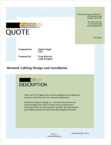 network cabling sample proposal  5 steps structured cabling proposal template excel