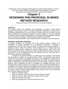 pdf designing a phd proposal in mixed method research dissertation proposal template excel