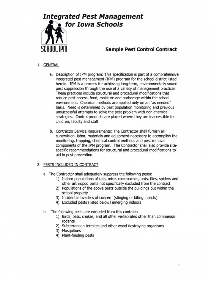 pest control proposal pdf  fill online printable fillable property management proposal template pdf