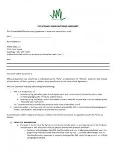 printable 11 contract manufacturing agreement examples in pdf contract manufacturing proposal template excel