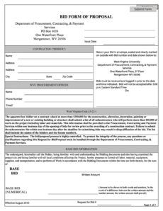 printable 31 construction proposal template & construction bid forms job estimate proposal template