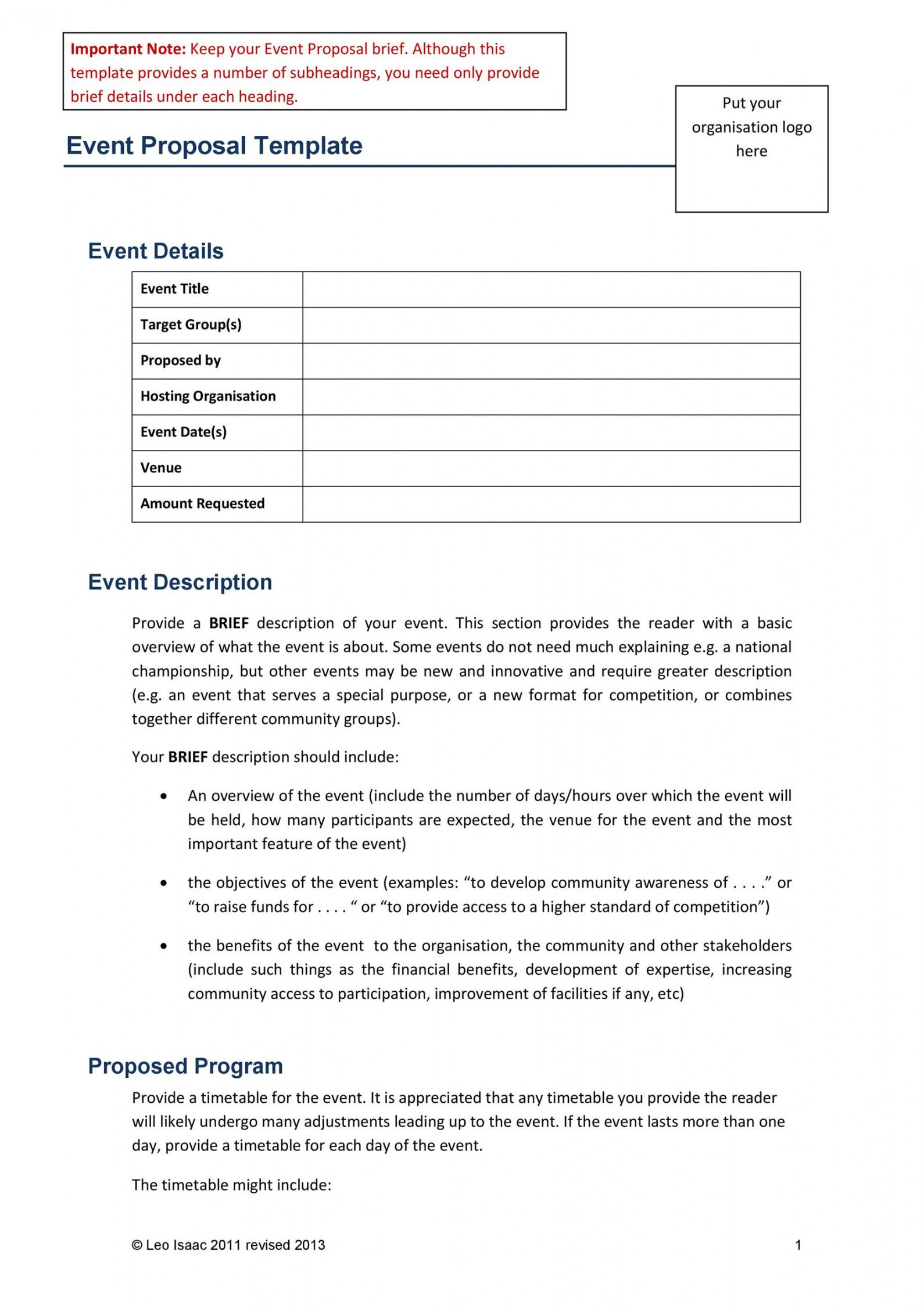 printable 38 best event proposal templates & free examples  templatelab wedding planner proposal template doc