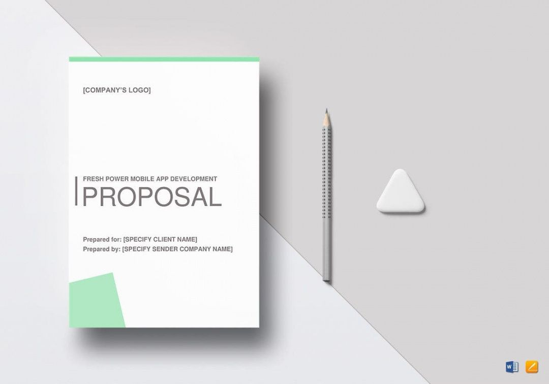 printable 8 mobile app development proposal templates  free mobile app development proposal template doc