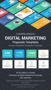 printable best digital marketing proposals powerpoint templates digital marketing proposal template pdf