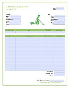 printable free carpet cleaning service invoice template  pdf  word carpet cleaning proposal template doc