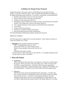 printable guidelines for design project proposal senior design project proposal template doc