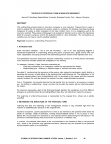 printable pdf the role of proposal form in non life insurance insurance request for proposal template example