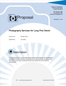 printable photography services proposal  5 steps wedding photography proposal template example