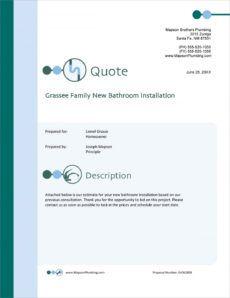 printable plumber services sample proposal  5 steps bathroom remodel proposal template