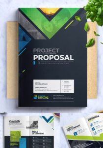 printable project proposal corporate identity template graphic design project proposal template word