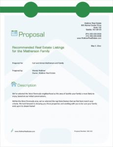 printable real estate agency listings sample proposal  5 steps commercial real estate marketing proposal template