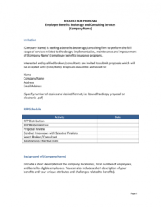 printable rfp template insurance request for proposal template excel
