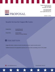 printable security guard services sample proposal  5 steps security guard service proposal template example