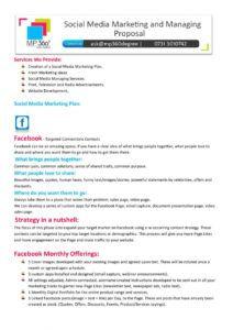 printable social media marketing proposal template pdf  bonsai social media management proposal template excel