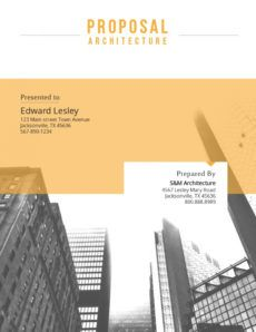 printable template  visme architectural design proposal template excel