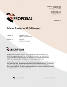 printable training services sample proposal  5 steps business training proposal template excel