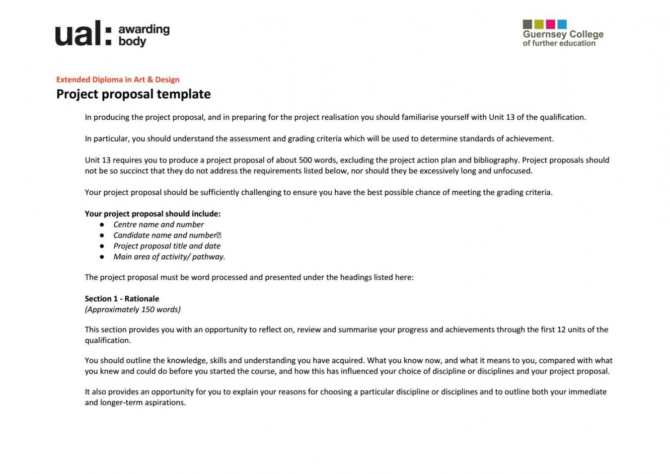 printable ual fmp project proposal template by charlie towers  issuu art project proposal template example